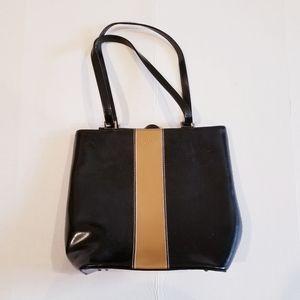 Kate Spade Black & Tan Bucket Bag
